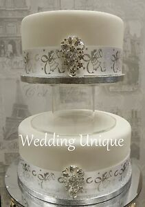 """8"""" Acrylic separator cake stand, Wedding Cake stand, perspex cake stand"""