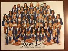 Official 2018-2019 Dallas Cowboys Cheerleaders DCC Team Picture Signed X2