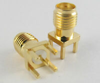 SMA RF Female Jack Straight PCB Board Mount Coaxial Adapter Connector Lot USA