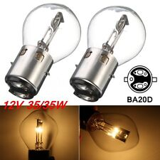 2x BA20d 12V 35/35W Motorcycle Motorbike Moped Scooter Headlight Bulb Light
