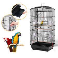 Jaula Metálica para Pájaros Jaula de Cría para Loros Canarios 46 x 36 x 92 cm