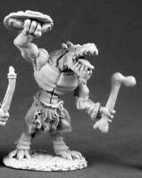 1 x LIZARDMEN SHIELD BONE - DARK HEAVEN REAPER miniature rpg ad&d lezard 03551r