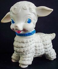 VINTAGE 1950'S RUTH NEWTON SUN RUBBER CO. 6 INCH LAMB SQUEAK TOY DOLL