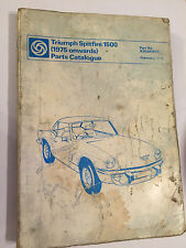 BL OEM TRIUMPH 1500 SPITFIRE ILLUSTUSTRATED SPARE PARTS CATALOGUE MANUAL 1975-81