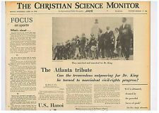 Martin Luther King Assassination Civil Right March in Atlanta  April 10 1968 B16