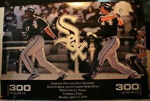 "2009 Jermaine Dye & Paul Konerko 300 Home Runs Chicago White Sox 24 x 36"" Poster"