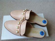 Catherine Malandrino Plush Pink Faux Pearls Mule Sandals Size 6.5 New