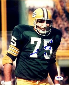 Forrest Gregg autographed inscribed signed 8x10 photo NFL Green Bay Packers PSA