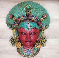Nepali Girl Kumari with Gemstone work Wall hanging Art Sculpture Religious Budha