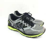 ASICS Men's Gt-2000 T606n Running Shoes Black/Gray/Neon Yellow size 12.5