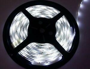 60/m Flexible 500cm LED 3528 SMD Lights IP21 COLD WHITE heavy duty 3M tape 12V
