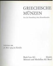 * Griechische Münzen, coll. un ami de l'art, Vente Zürich 28/5/1974, grecques