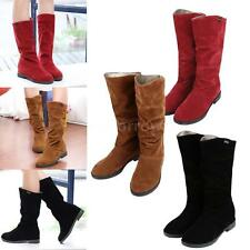 Mid-Calf Faux Suede Low Heel (0.5-1.5 in.) Boots for Women