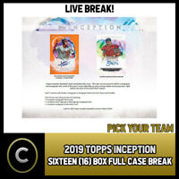 2019 TOPPS INCEPTION BASEBALL 16 BOX (FULL CASE) BREAK #A433 - PICK YOUR TEAM