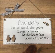 Friendship Friends Besties Plaque Sign Penguins Friend Gift Birthday
