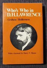 1976 Who's Who in D.H. LAWRENCE by Graham Holderness 1st Taplinger HC/DJ FVF/FN