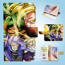 Samsung Galaxy S3 4 5 6 7 8 Edge Plus Note Wallet Case Cover Dragon Ball W021