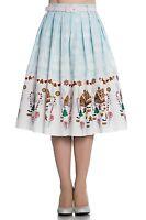 Hell Bunny Gigi Gingerbread Christmas Festive Vintage Xmas Party 50s Flare Skirt