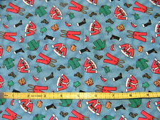 SANTA UNDRESSED ~ OOPS! 100% quality cotton sew fabric 2/3 YARD PLUS