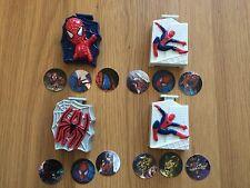 4 x Spiderman Movie Web Shooter & 12 x DISCS NESTLE Sony MARVEL 2002 Shreddies