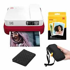 KODAK Smile Classic Digital Instant Camera with Bluetooth (Red) Travel Kit