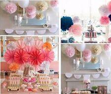 30 Pcs Party Pompoms Wedding Decorations Lanterns Tissue Paper Flowers 3 Sizes