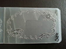 Sizzix Medium Embossing Folder FRAME WITH BIRD fits Cuttlebug Big Shot