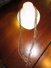 WOMENS LORD & TAYLOR GOLD,DARK SILVER MULTI-CHAIN STYLED COSTUME NECKLACE