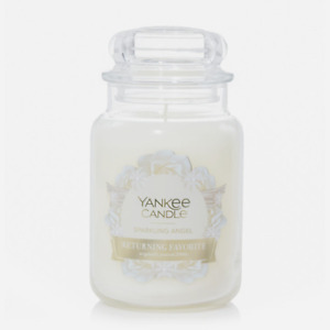 ☆☆SPARKLING ANGEL☆☆LARGE YANKEE CANDLE JAR 22 OZ.☆☆- FREE SHIP!  CHRISTMAS SCENT