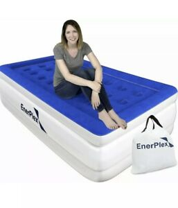 EnerPlex Never-Leak Twin Air Mattress with Built in Pump Raised Luxury Double