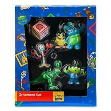Disney Parks Toy Story 4 Forky Rex Alien and Ducky with Bunny Ornament Set New