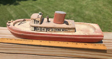 Wood Toy Boat 12�Long c.1950s