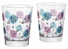 ADERIA Glassware Fin Rose Tumbler Geometric Pair Set 365ml S-6115 MADE IN JAPAN