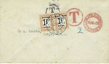 1928 Postage Due South West Africa Durban Cover to Outjo - Nice Markings