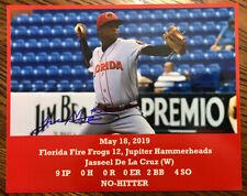 Jasseel De La Cruz SIGNED Florida Fire Frogs 8x10 NO HITTER photo-Atlanta Braves