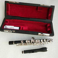 Piccolo With Case C Key Silver Plated Nice Sound Composite Wood Quality assuranc