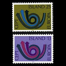 Iceland 1973 - Europa Stamps WMO - Sc 447/8 MNH