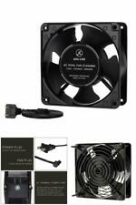 Fan Computer Axial Cooling Exhaust 110V By 125V High Speed Metal Net 120mm
