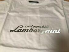 AUTOMOBILI LAMBORGHINI MEN'S T-SHIRT WHITE OEM SIZE XL