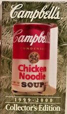 🔥Nib Campbell'S Soup Can Christmas Ornament Holiday 1999-2000 🔥New