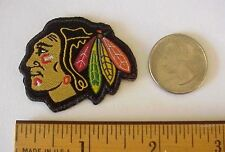 "CHICAGO BLACKHAWKS NHL HOCKEY  1 3/4"" x 1 1/4"" Iron-On Mini Patch"