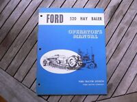Ford Tractor Hay Baler Series 520 Owner Operator Manual Guide Book Set Up