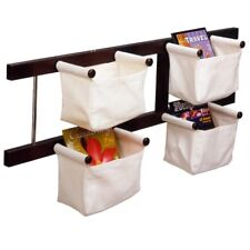 Winsome Wood Storage/Magazine Rack with 4 Canvas Baskets WIN-92444