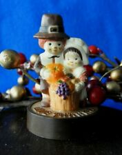 "Hallmark Merry Miniature 1977 Pilgrims Rare! V$150.00 Shorter of the 2 2"" Tall"