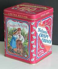 """NEILSON'S CRISPY CRUNCH 6"""" Candy Tin Advertising Chocolate is for Giving"""