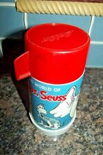 1970 Vintage The World of Dr. Seuss Aladdin Thermos With Lid & Red Cap
