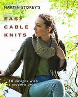 Martin Storey's EASY CABLE KNITS  knitting pattern book for Rowan hemp tweed