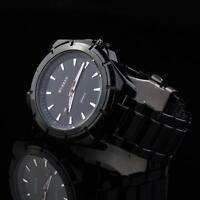 Herrenuhr Schwarz Herren Armbanduhr Geschenk Watch UVP: 59€ U1719L