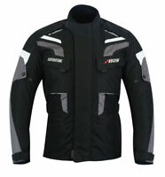Adventure Motorrad Textil Jacke Schwarz Herren Motorrad Winter Jacke Gr S-5XL