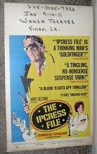 THE IPCRESS FILE original 1965 movie poster MICHAEL CAINE/VIVIAN, LOUISIANA